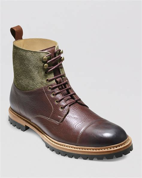 cole haan boots mens cole haan judson cap toe boots in green for sequoia