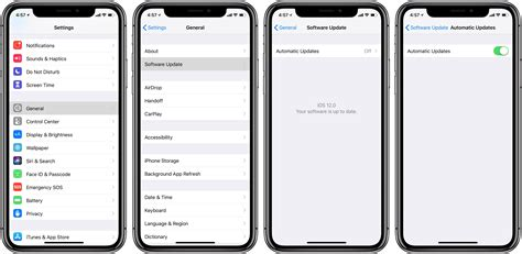 how to enable automatic updates for ios releases on iphone and