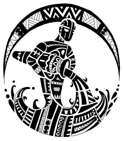 black polynesian aquarius tattoo design
