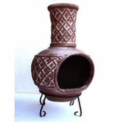 Clay Chiminea Home Depot Lowe S 37 In H X 21 In D X 21 In W Brown Clay