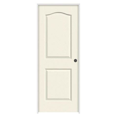 jeld wen interior doors jeld wen 24 in x 80 in princeton vanilla painted left smooth solid molded composite