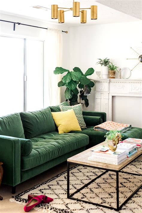 green couch living room best 25 green sofa ideas on pinterest