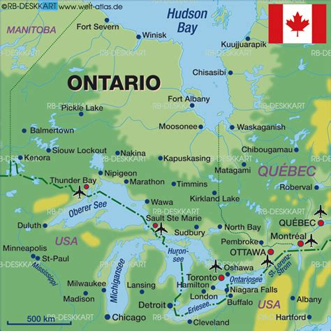 map of ontario and canada map of ontario canada