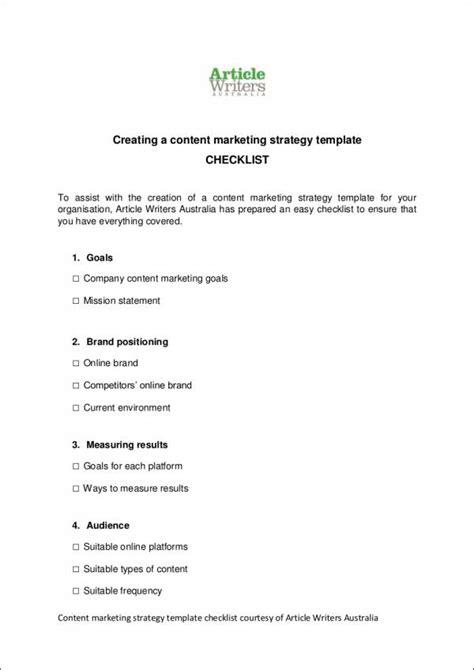 8 Content Marketing Sles Templates Free Pdf Format Download Content Marketing Strategy Template Pdf