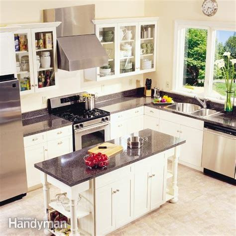install cabinets like a pro the family handyman frameless kitchen cabinets the family handyman