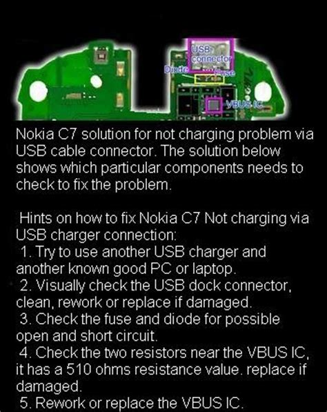 charging system test diode open free mobile phone tips nokia c7 not charging problem via wall charger solution