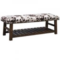 Faux Cowhide Bench Mesquite Faux Cowhide Bench 54 18 18 Of Crestviewcollection