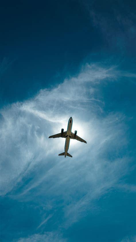 flugzeug von unten gesehen himmel iphone xgs