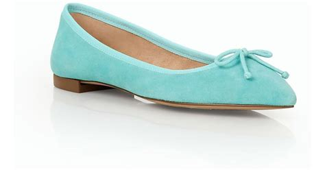 talbots shoes flats talbots mira ballet flats suede in blue lyst