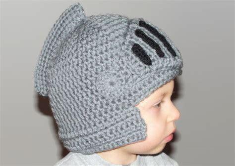 crochet pattern knight helmet free crocheted knight s helmet cap bored panda