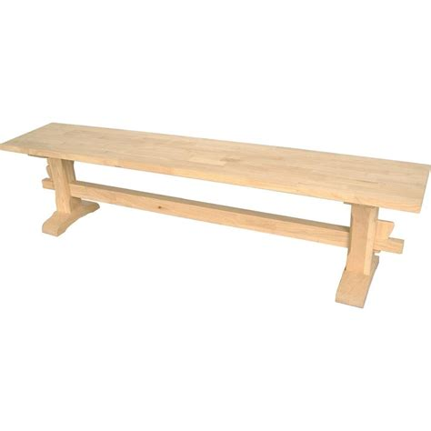 unfinished wooden benches international concepts unfinished bench kbe 72 the home