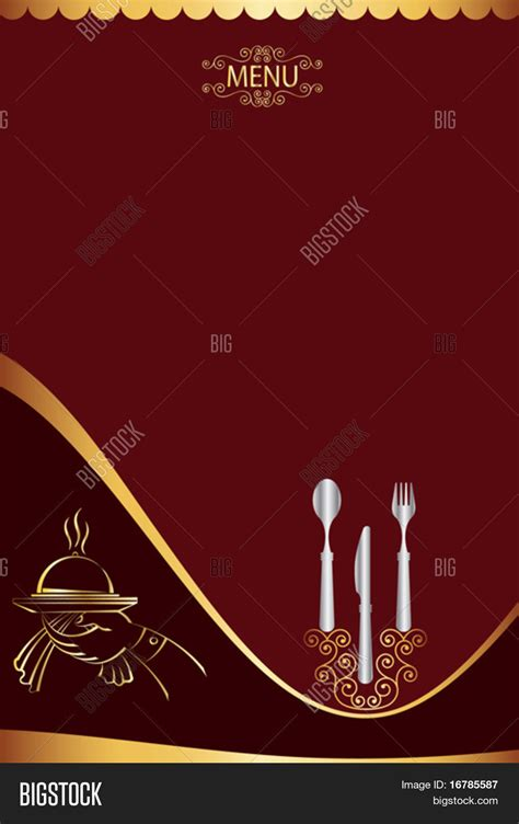 menu card design template vector photo bigstock