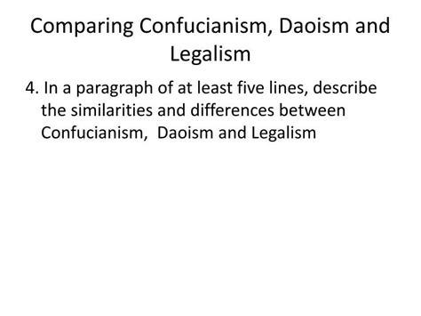 Confucianism Daoism And Legalism Essay by Essay On Confucianism Daoism And Le