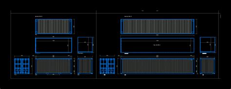 maritime containers  autocad cad   kb bibliocad
