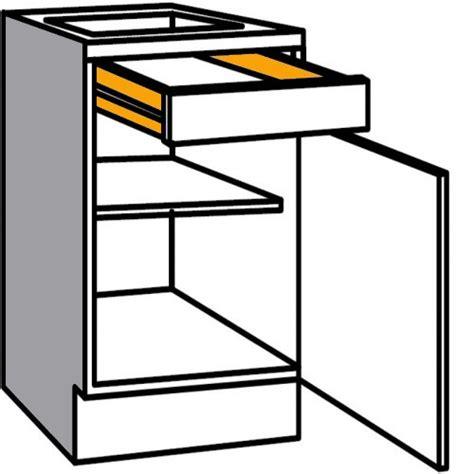 küchenschrank schublade unterschrank mit 1 schublade und durchg 228 ngiger t 252 r