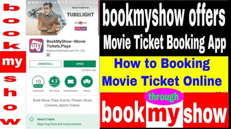 ticket booking book my show ticket booking bookmyshow