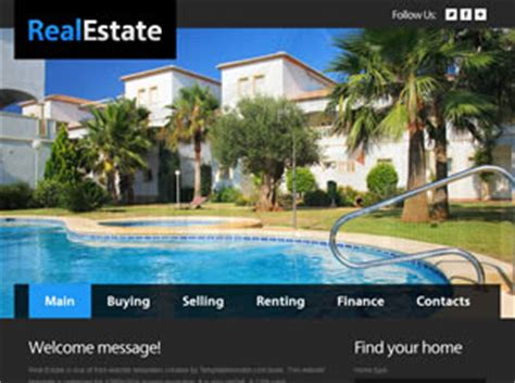 Free Real Estate Website Templates 29 Free Css Condo Website Templates
