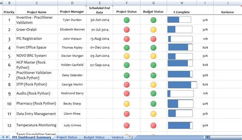 pmo reporting templates table project management pmo creation week 10