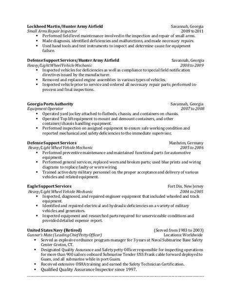 terry brewton s qc inspector resume
