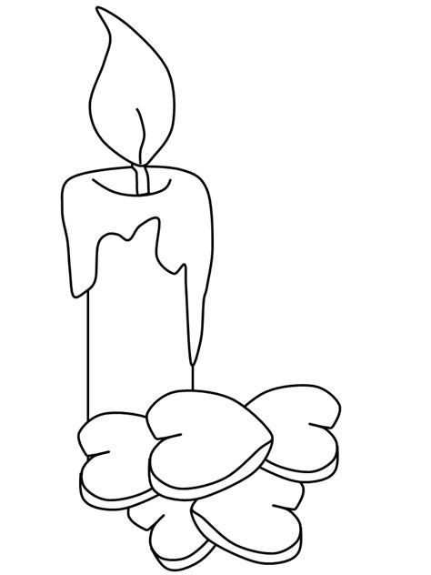 candle valentines coloring pages coloring book
