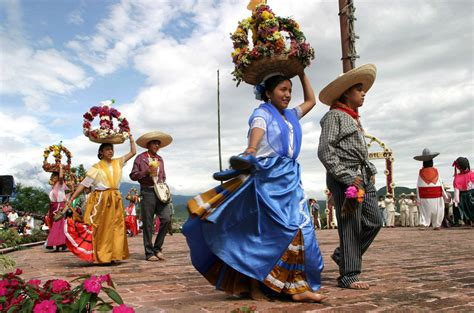 atlixquences women and mexican charros march puebla