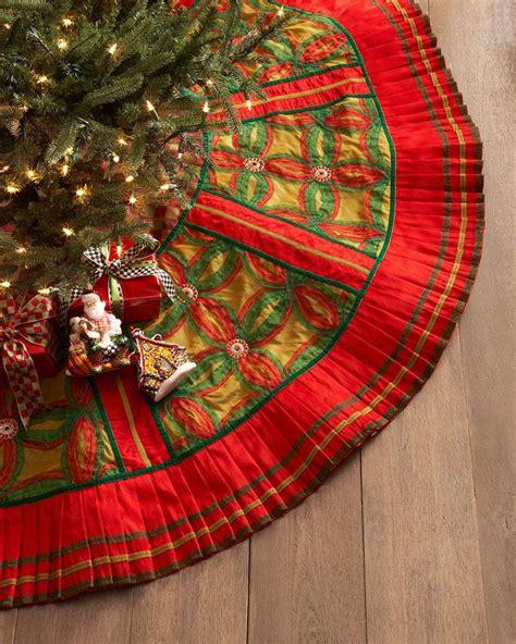 christmas drum skirt mackenzie childs jollity tree skirt things trees