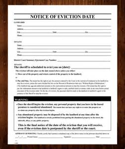 eviction letter template free free printable eviction notice template 13 sle
