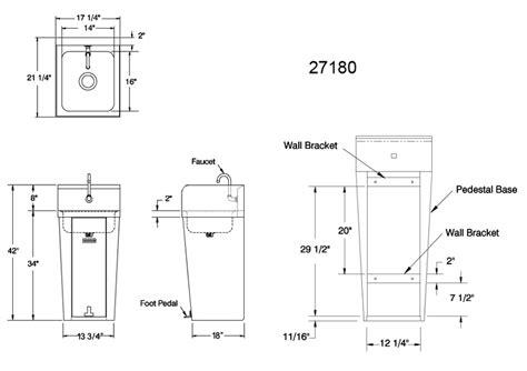 Pedestal Sink Width Pedestal Sink Dimensions Befon For