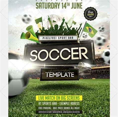 free soccer flyer template best soccer tournament flyer design
