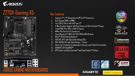 Motherboard Gigabyte Z270x Gaming K5 Ga Z270x Gaming K5 intel 200 series kaby lake platform arrives z270 board roundup