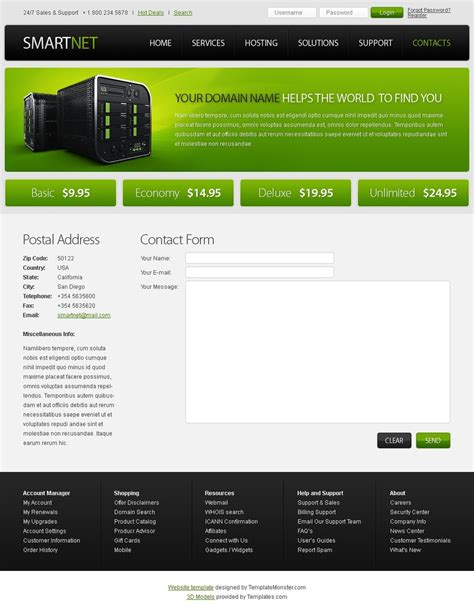 Free Html5 Template Hosting Website Free Html Web Templates