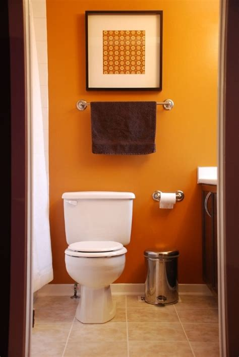 small bathroom design ideas color schemes 31 cool orange bathroom design ideas digsdigs