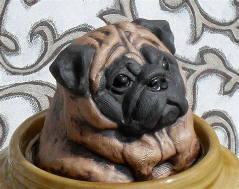 pug cookie jar large pug cookie jar height 12 1 2 inches by by debrabacianga