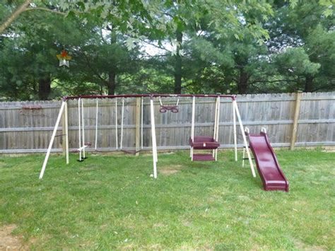 used commercial swing set swing sets residential backyard playground equipment html