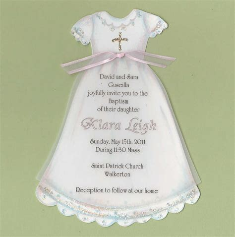 christening dress card template baptism dress invitations printable