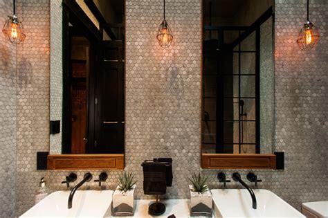 Wall Decor Mirror Home Accents hamilton eclectic industrial contemporary bathroom