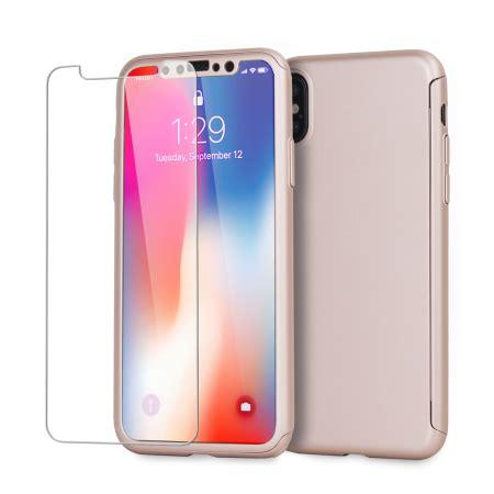 olixar xtrio full cover iphone x case & screen protector