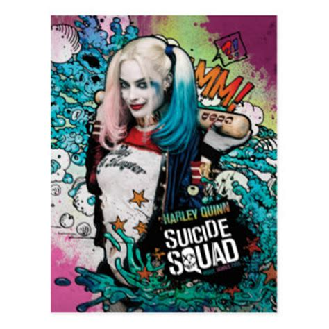 Postcard Squads harley quinn cards zazzle