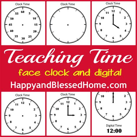 printable learning clock free printables to help teach children how to tell time