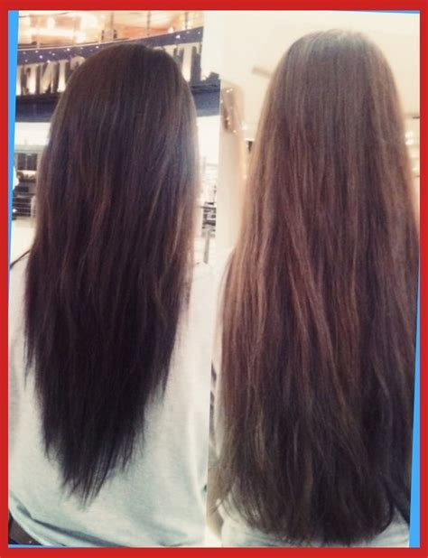 ladies hair u cut long hair with a v shape cut at the back women hairstyles