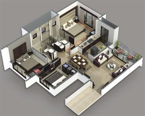 3d 3 bedroom house plans beautiful houses plan with 3 bedroom home design ideas