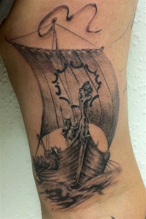shipwreck tattoo traditional viking ship tattoos viking ship by radutattoo