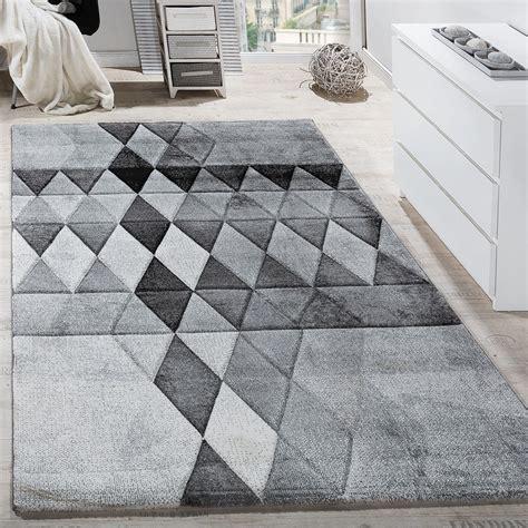 teppiche muster designer teppich bunte raute muster konturenschnitt grau