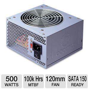 Power Supplay 500w Okaya coolmax i 500 500w power supply 120mm fan atx serial ata 150 ready voltage and