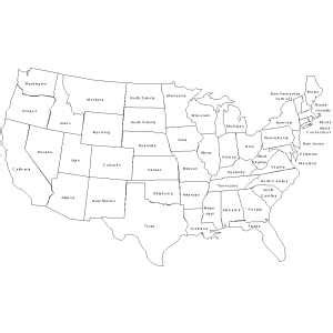 us map coloring page with state names printable us states map