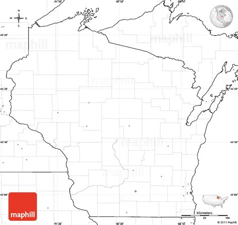 Wisc Simple Search Blank Simple Map Of Wisconsin No Labels