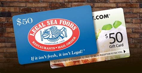 Food E Gift Cards - specials by restaurant com 50 legal sea foods gourmet gifts egift card plus a 50