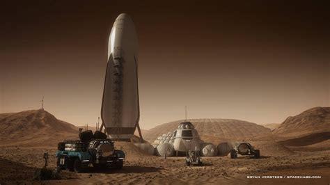 Home Landscape Design 2 Free Download by Human Mars Spacex Spaceship At Mars Base By Bryan Versteeg