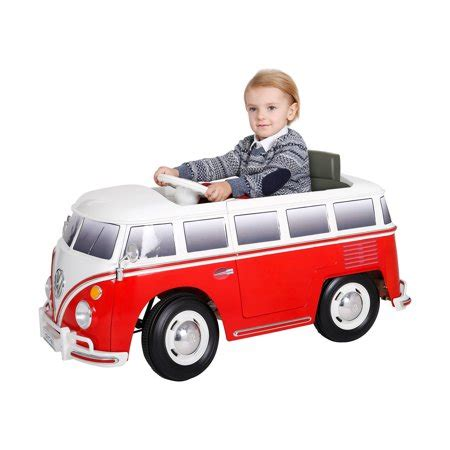 rollplay  vw bus battery powered ride  walmartcom