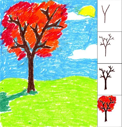 Oil Pastel Tree Art Projects For Kids